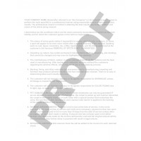 CC-1001 Carpet & Upholstery Invoice (Terms on Back)