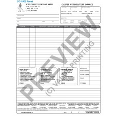 CC-1002 Carpet & Upholstery Blank Invoice (Terms on Back)