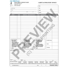 CC-1005 Blank Carpet Cleaning Invoice