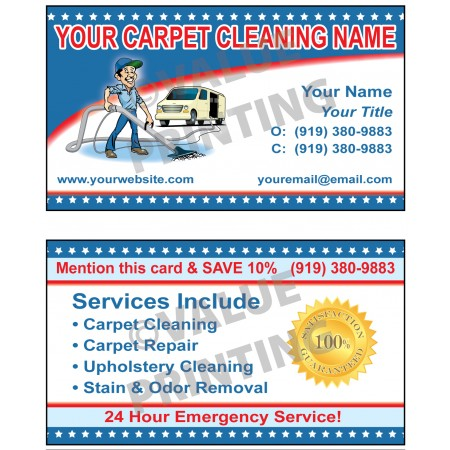 Carpet Cleaning Business Cards #3