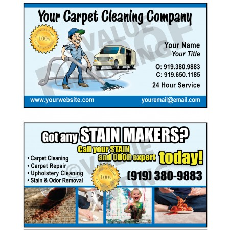 Carpet Cleaning Business Cards #4