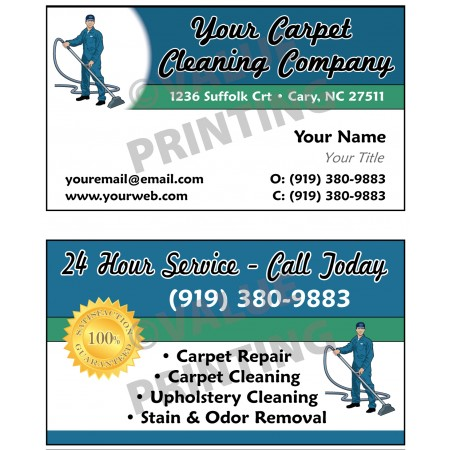 Carpet Cleaning Business Cards #8