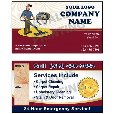 Carpet Cleaning Business Cards #9