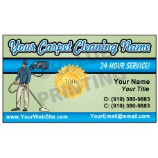 Carpet Cleaning Business Card Magnet  #1