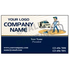 Carpet Cleaning Business Card Magnet  #11