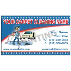 Carpet Cleaning Business Card Magnet  #3