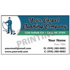 Carpet Cleaning Business Card Magnet  #8