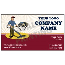 Carpet Cleaning Business Card Magnet  #9