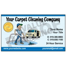 Carpet Cleaning Business Card Magnet  #4