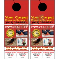 Carpet Cleaning Door Hanger #1