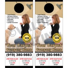 Carpet Cleaning Door Hanger #3