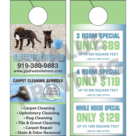 Carpet Cleaning Door Hanger #6